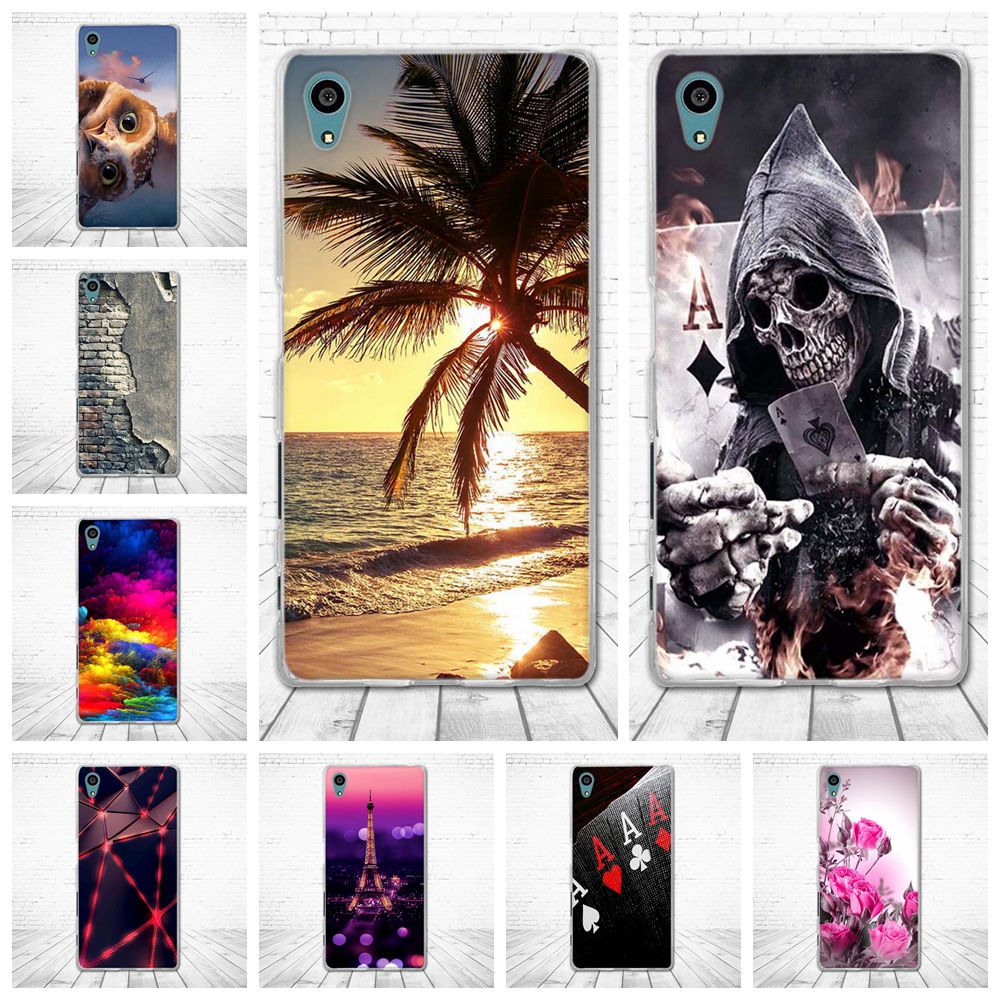 For <font><b>Sony</b></font> Xperia Z5 Case Silicon TPU Back Cover For <font><b>Sony</b></font> Xperia Z5 Cover 3D Pattern Bag For <font><b>Sony</b></font> Z5 E6603 <font><b>E6633</b></font> E6653 E6683 Cases image