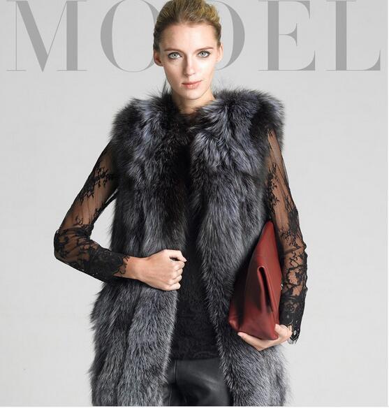 Nouveau 2017 mode hiver femmes fausse fourrure gilet FAUX renard fourrure manteau femme manteau fourrure gilets veste femme dames pardessus taille S-4XL