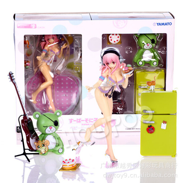 Super Sonico Swimsuit Ver Anime 4.7/'/' Action Figure Collection Model Kids Toys