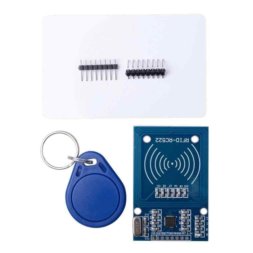 5 pièces Rc522 Rfid Carte à Puce Rf Capteur Module + S50 Carte Blanche + Porte-clés Pour Arduino Framboise Pi