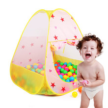 Finger Rock Cartoon Pattern Star Style Toy Tents Baby Beach Folding Outdoor Play House Children Tents Ball Pool Educational Toys(China)
