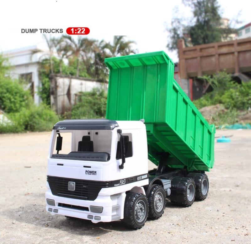 big size dump truck 1/22 transporter truck car toy kids beach toy model inertia trucks car truck kid learning toy gifts creative dump monkey falling toy tumbling monkeys party