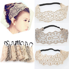 Hot 2018 Sale New fabric lace headband for women Wide-brimmed girls hair accessory