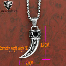 Cross-border new products  Stainless steel ivory mens pendant Personality creative ethnic wind