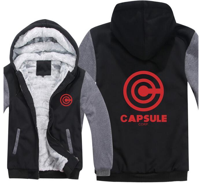 Smart Dragon Ball Z Capsule Corp New Fashion Manzipper Hoodie Japanese Anime Casual Loose Cool Men Hoodies Cosplay Fleece Teen Jacket Up-To-Date Styling Hoodies & Sweatshirts