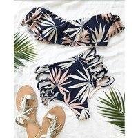 Bikini 2017 Hot Sexy Swimsuit Women Swimwear Bathing Suit Push Up Brazilian Bikini Set Printed