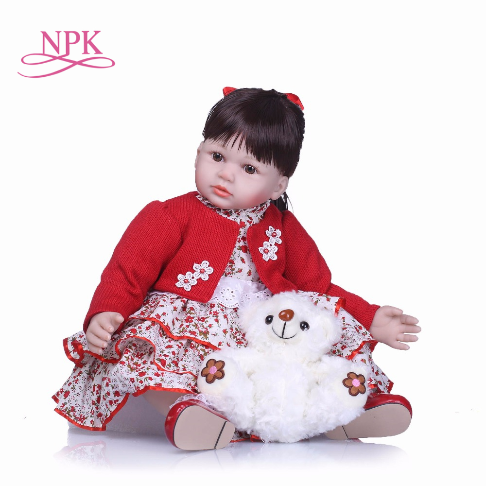NPK 22Inch Dolls 55cm Soft Silicone Baby Reborn Dolls With Cotton Body Lifelike Doll Reborn Babies
