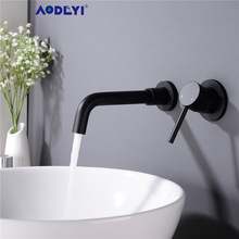 AODEYI Basin Faucet Tap Bathroom-Mixer Wall-Mounted Cold-Sink Rotation Gold Single-Handle