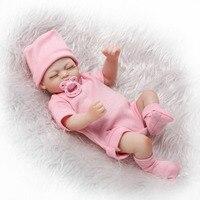 Sucking Pacifier 11 Inch Reborn Baby Dolls Wholesale Lifelike Sleeping Lovely 3 Pcs Girl Twins Full