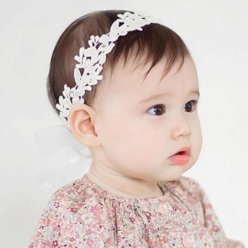 Baby Girls Kids Toddler Bow Hairband Headband Adjustable Flower Head Wrap