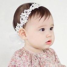 90658f81f 2018 الطفل زهرة العصابة الفتيات الرضع طفل الأبيض الزهور الشعر الفرقة  اكسسوارات تعديل عقال للطفل بنات