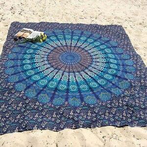 Image 3 - USA Rotondo Pieghevole Appeso A Parete Spiaggia Getta Mandala Zerbino Asciugamano Campeggio Tappeto
