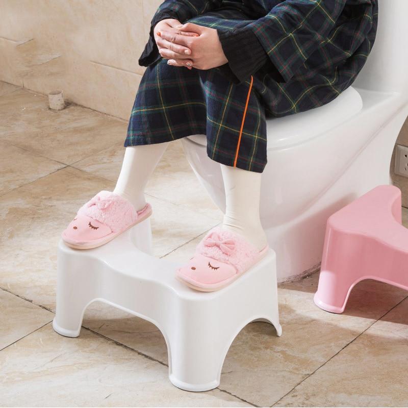 Strongwell New Deluxe Squatty Potty Affordable Ergonomic Design Toilet Stool Plastic White Non-slip Bathroom Toilet Aid Stool