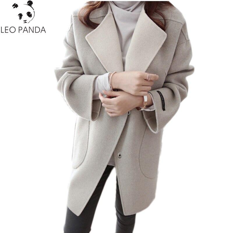 النساء الخريف جواكت شتوية 2019 جديد سميكة طويلة المعطف الإناث معاطف حزام المتضخم عالية الجودة لحاف طويل معطف Manteau فام-في صوف مختلط من ملابس نسائية على  مجموعة 1