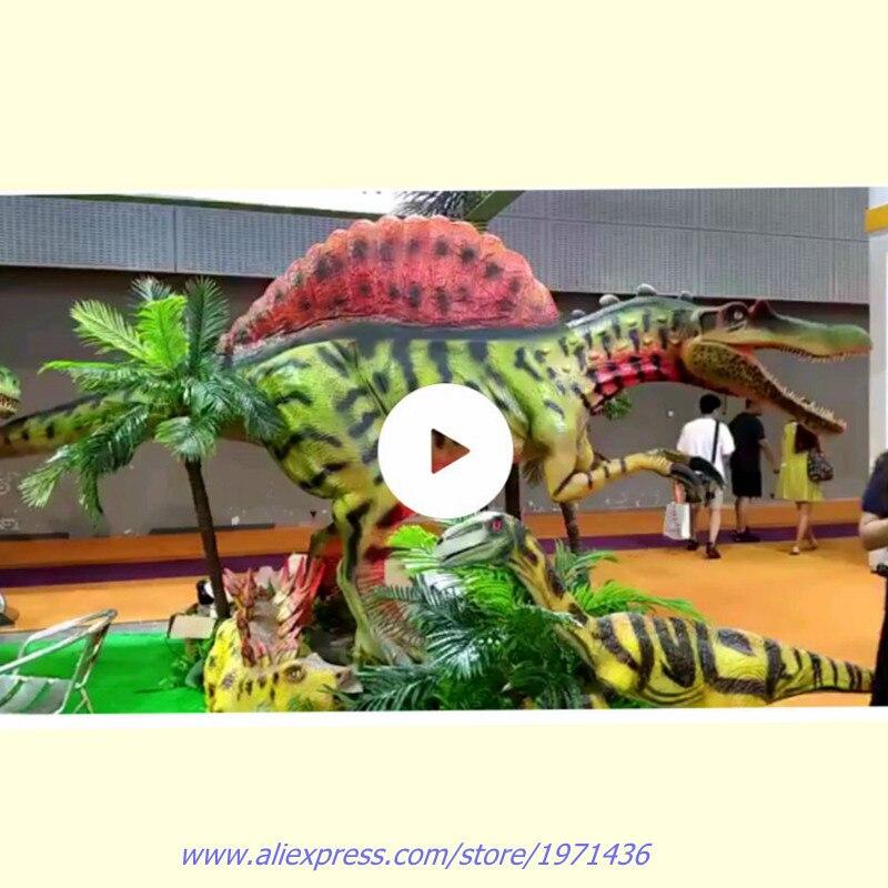 Парк развлечений электронного оборудования аниматронных динозавров искусственного моделирования динозавров для игровой центр торговые ц...