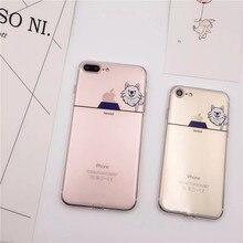 Soft TPU Cute Cartoon Pet Dog Case For iPhone 5 5s 5se 6 6s 7 7plus Buff Pug Samoed Phone Cases Transparent Back Cover  C191