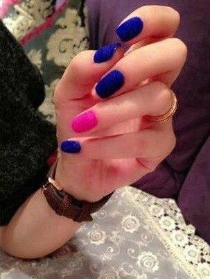 23 Color Choose Velvet Nail Sticker Women Cosmetics Product  Beauty Accessories 3D Nail Art Stickr