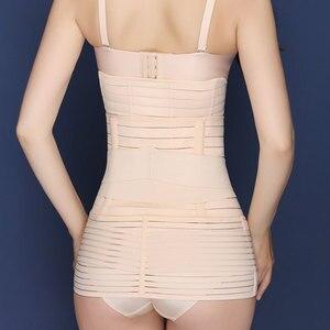 Image 4 - 3 יח\סט דוגמנות חגורת גוף ומעצב מותניים מאמן התאוששות לאחר הלידה בטן חגורת גוף Shaper ירך Cincher בטן קלסר 3 גדלים