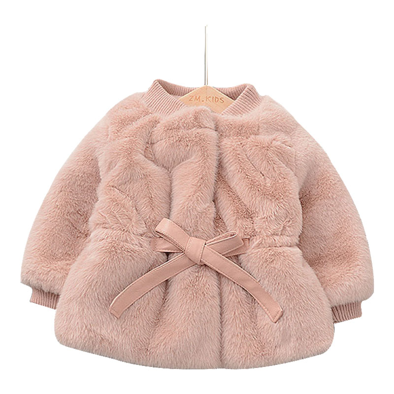 New Winter Girls Fur Coat Elegant Baby Girl Faux Fur Jackets And Coats Thick Warm Parka Kids Outerwear Clothes Girls Coat цена