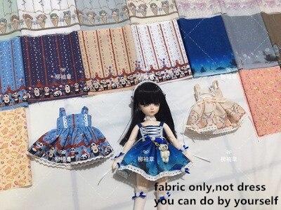 45*15cm Fabric Diy Handmade Ob11 Doll Clothes Chiffon Material Fabric Sewing 20cm Ob 11 Doll Clothes Fabric 1/8bjd Dress Lolita