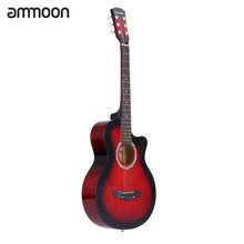 "High Quality 38"" Guitar Guitarra 38"" Acoustic Folk Guitar Durbale 6-String Basswood Guitar Black Blue Red Purple for Option(China)"