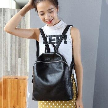 2019 Women Backpack Genuine Leather Shoulder Bagss Women Casual Backpacks Quality Teenagers Backpack Mochila Feminina
