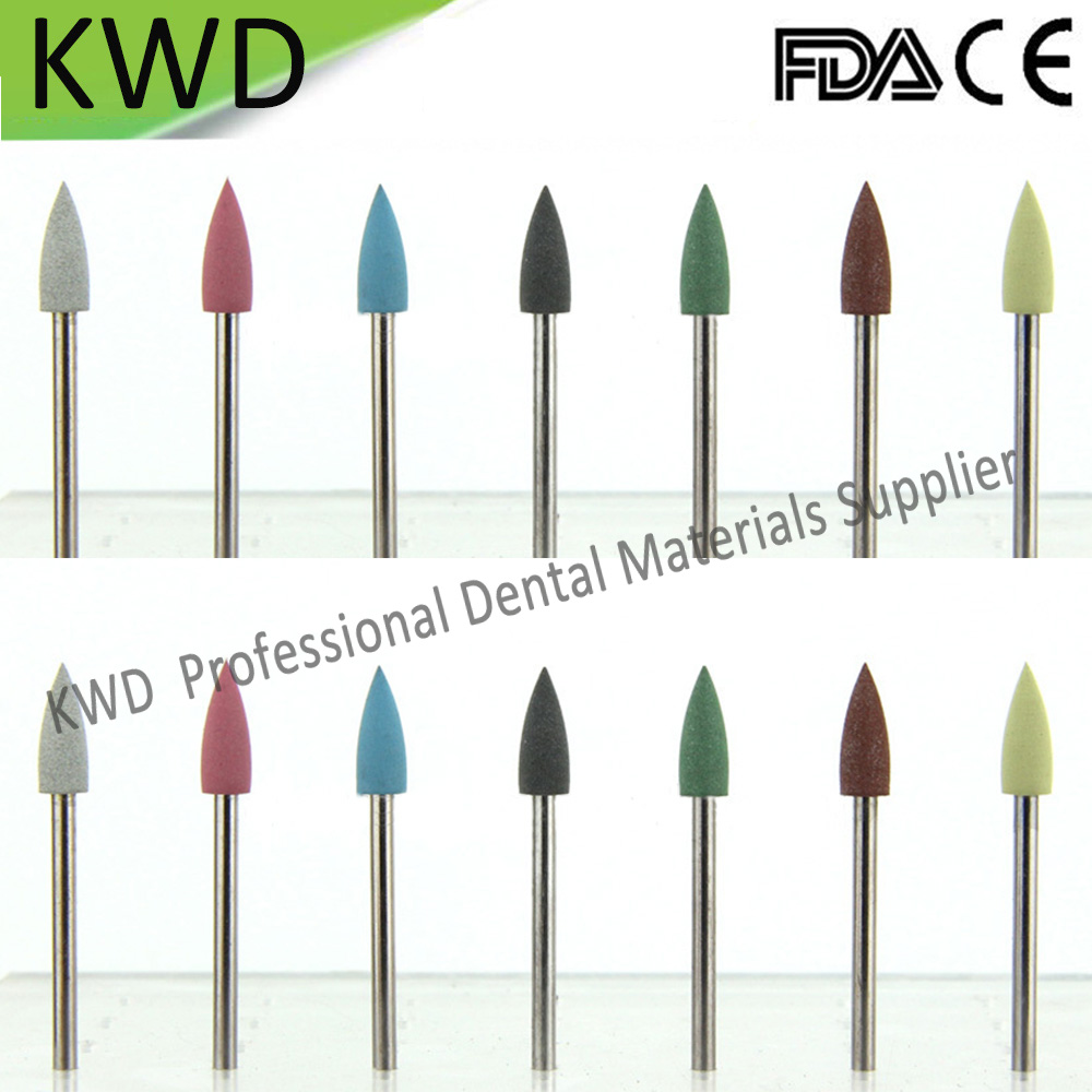 100pcs Lot Dental Teeth Equipment Polishinng Tools Silicon Burs High Quality Bullet Silicone Rubber Prophylaxis Polishers