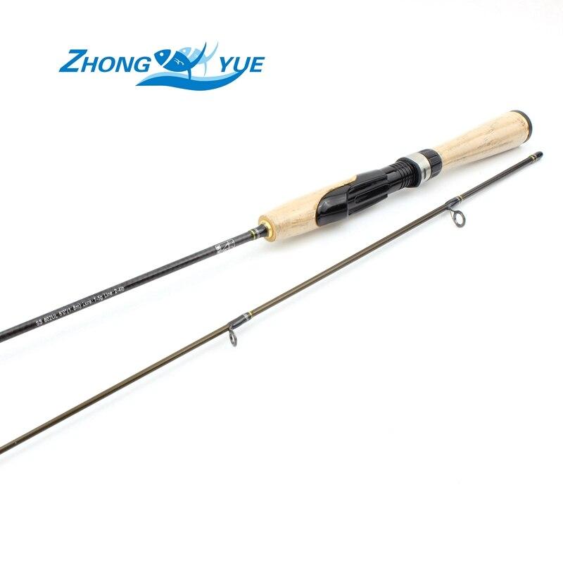 Povýšení! 1.8M UL Lure1-5g řádek 2-4lb spinning tyč Rybářský prut Pole Carbon Vysoce kvalitní ultralehký spin Rod Fishing Tac