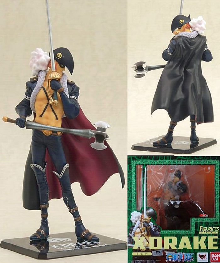 ФОТО One Piece Cosplay X Drake 19cm/7.5'' Boxed GK Garage Kit Action Figures Model Toys