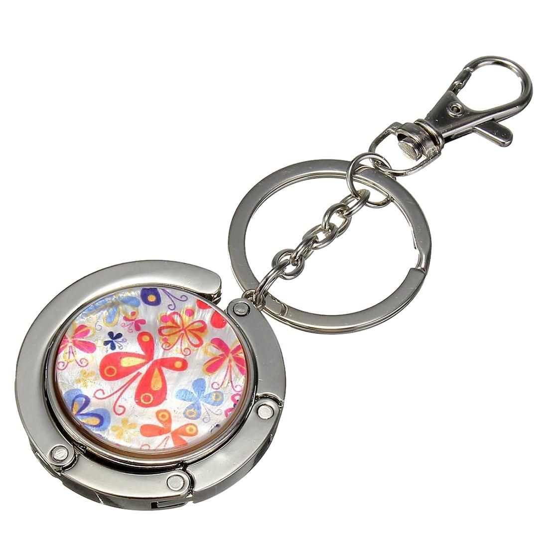 Keychain / Folding Handbag Hook Bag Hook Metal Door Table Butterfly Light Red