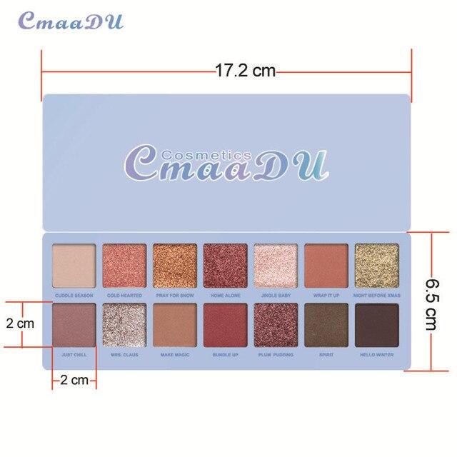 14 Colors Matte Eye Shadow Makeup Soft Glitter Shimmering Colors Metallic Eyeshadow Palette Naked Glitter Nude Make Up 3