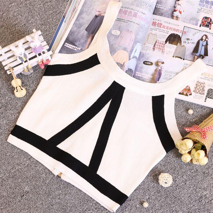Zomer Dames Mode Slanke Knitting Tank Crop Tops Dames Bodycon - Dameskleding - Foto 6