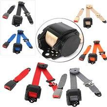 אוניברסלי מתכוונן 3 נקודות 3 נשלף בטיחות חגורת בטיחות חגורת בטיחות הר אביזרי רכב חלקים