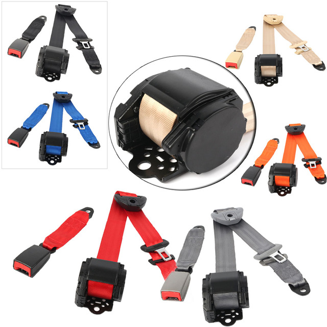Universal Adjustable 3 Points 3Point Retractable Safety Seat Belt Seatbelt Mount Car Accessories Parts