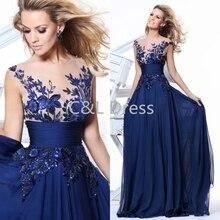 Cheap 2016 Royal Blue Black Red Chiffon Bridesmaid font b Dresses b font Appliques A line
