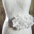 TOPQUEEN S54 FREE SHIPPING Handmade Wedding Belts Elegant Flower Bridal Belt Wedding Party Bride Bridesmaid Belt Wedding Sashes