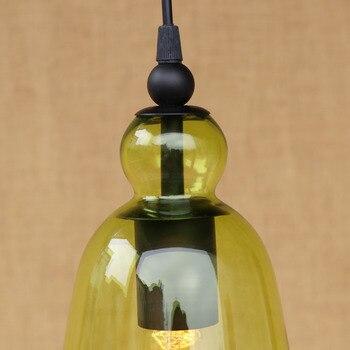 IWHD Cam Vintage Kolye Işıkları Fikstür Tarzı Loft Endüstriyel Retro LED Asılı Lamba Mutfak Hanglamp Süspansiyon Armatür