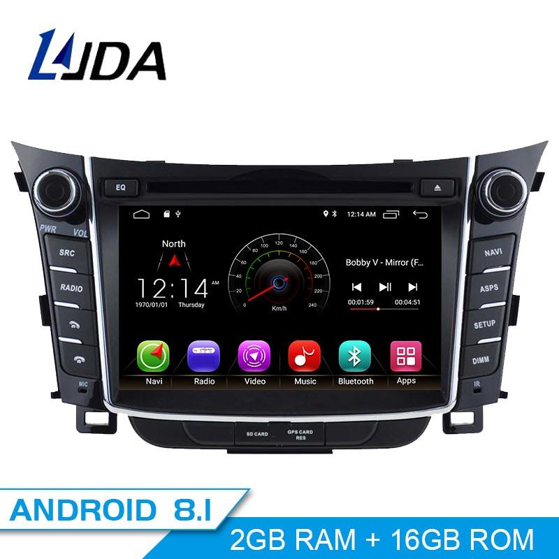 LJDA Android 8 1 font b Car b font dvd player for Hyundai I30 Elantra GT