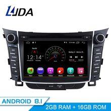 LJDA Android 8.1 lettore dvd Dell'automobile per Hyundai I30 Elantra GT 2012 2013 2014 2015 2016 Auto Radio gps di navigazione stereo multimediale