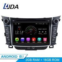 LJDA Android 8.1 Car dvd player for Hyundai I30 Elantra GT 2012 2013 2014 2015 2016 Car Radio gps navigation stereo multimedia