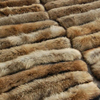 Genuine Fur Collar For Women Thick Large Racoon Fur Scarf For Coat Matching With Button Hole