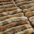 Подлинная Меховой Воротник Для Женщин Толщиной Большой Racoon Меховой Шарф Для Пальто Соответствия С Кнопкой-Отверстие
