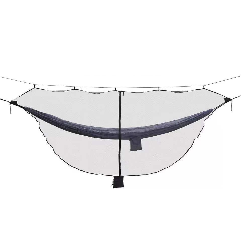 Outdoor Easy Setup Travel Portable Hammock Mosquito Net Fabric Nylon Camping Double Person Foldable Separating Mosquito Bed Net