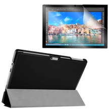 1x Clear Screen Protector , Ultra Magnetic Luxury Folio Stand Leather Case Smart Cover For Microsoft Surface Pro 4 Pro4 12.3″
