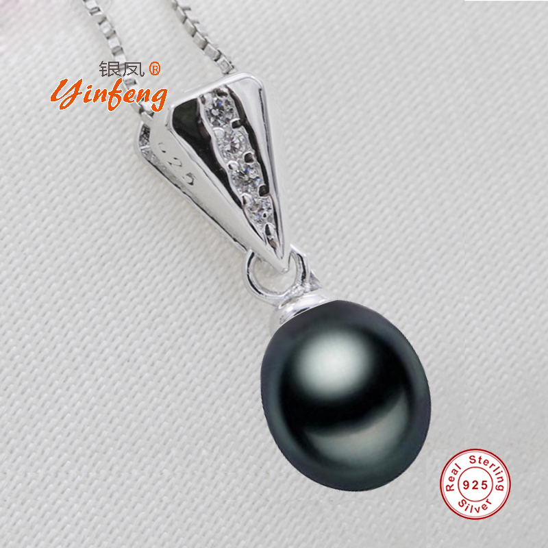 [MeiBaPJ]On Sale 9-10mm Freshwater Pearl Classic Pendant 925 Silver Chain Necklace for women birthday best gift Fine Jewelry