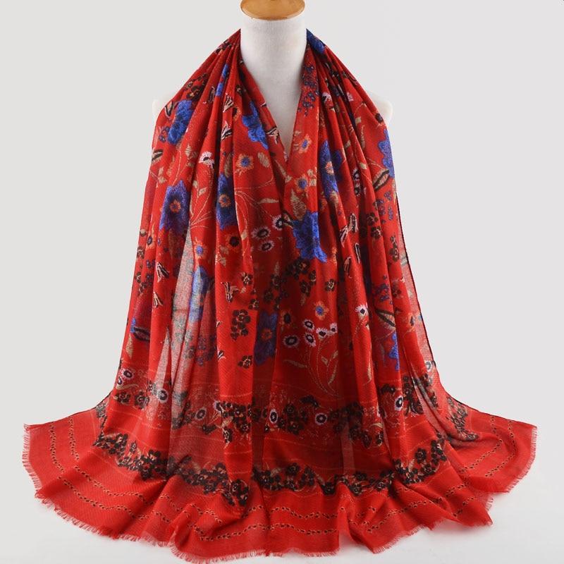 High quality women fashion 2018,Muslim hijab,shawls wraps,british style,cape,cotton silk scarf,cotton flower scarf,floral hijab