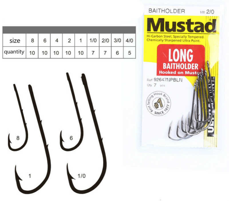 1 pack/lot Mustad hooks for Live bait casting fishing 92647-bn # double  backstab hooks worm barbed hooks pesca fish accessories