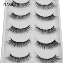5 Pairs Set 100% Real Fake Mink Eyelashes 3D Natural False Eyelashes