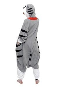 Image 3 - Bikirub unisex adult đồ ngủ đồ ngủ dễ thương pho mát tabby cat cartoon quần áo ngủ pyjama phụ nữ lông cừu đội mũ trùm đầu animal pajama bộ