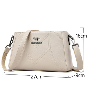 Image 4 - Designer Luxury Brand Ladies Handbags Female Crossbody Bags for Women Feminina Bolsa Leather Shoulder Messenger Bags Sac A Main